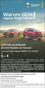 Captur und Kadjar Angebot 06-2016