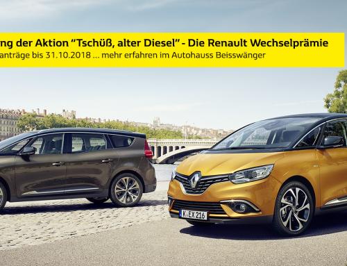 """Verlängerung der Aktion """"Tschüß, alter Diesel"""" – die Renault-Wechselprämie"""