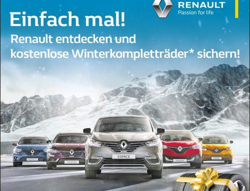 Renault entdecken und kostenlos Komplett-Winterräder sichern*