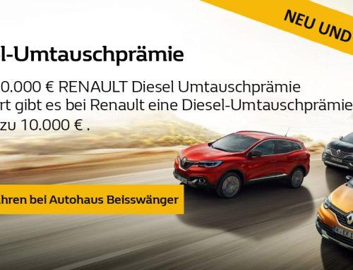 Renault Diesel Umtauschprämie von bis zu 10.000 €