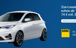 Renault ZOE - ADAC flex Leasing