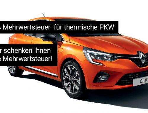 0% Mehrwertsteuer für thermische Fahrzeuge