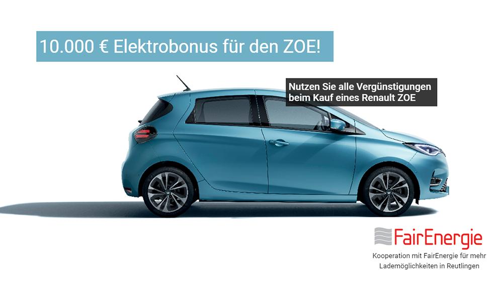 10.000 € Elektrobonus ZOE