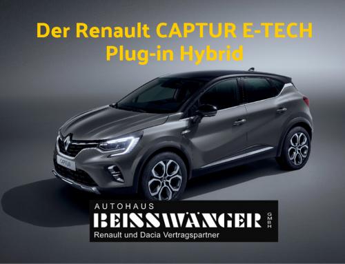 Der Renault CAPTUR E-TECH Plug-in Hybrid – der SUV zum Aufladen