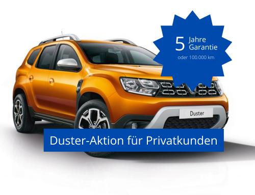 Fünf Jahre kostenlose Garantie für den Dacia Duster