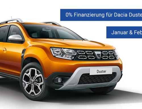 0% Finanzierung für Dacia Duster und Lodgy