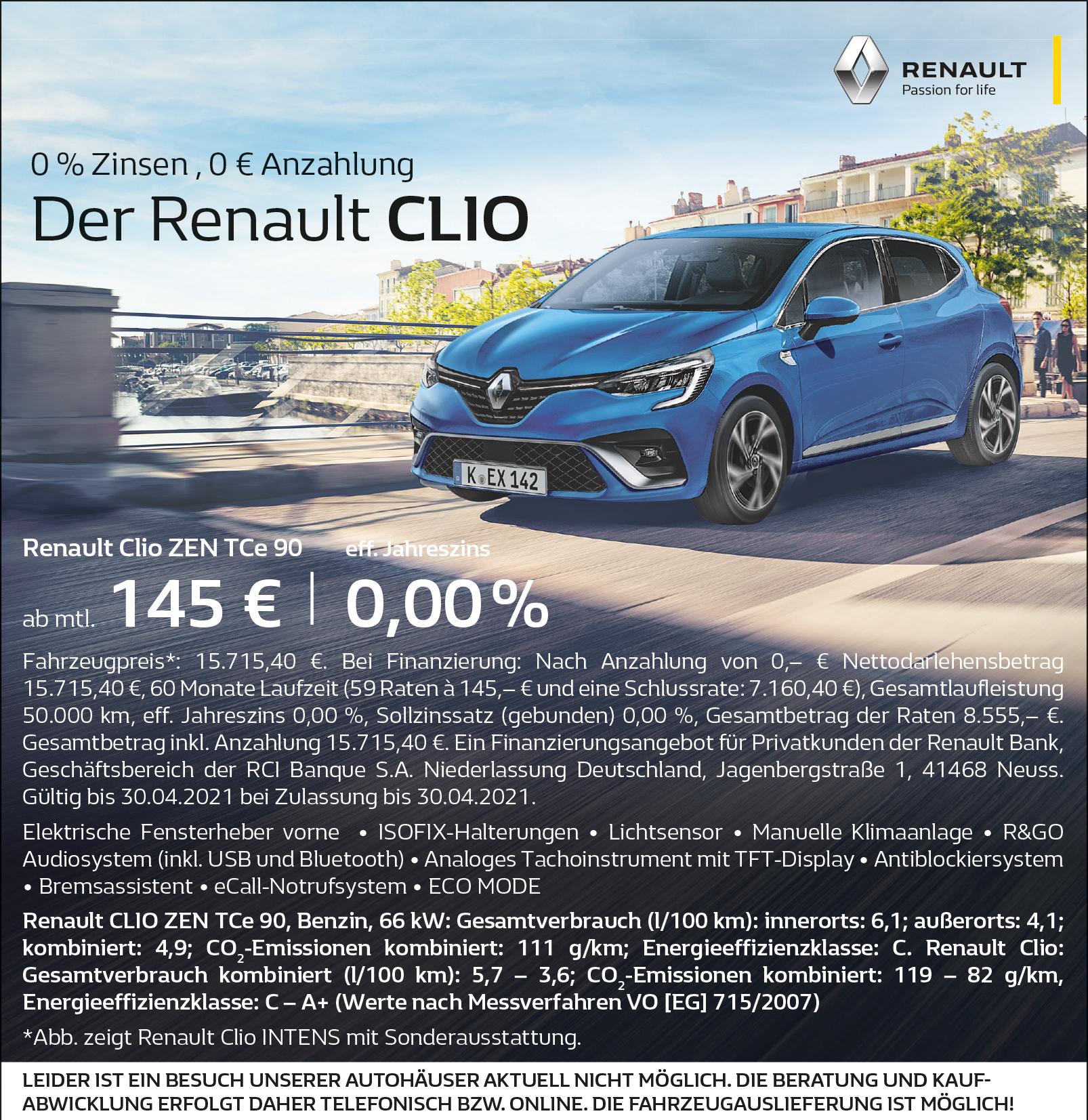 0Prozent-Anzeige-Clio